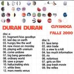 Duran Duran - Cuyahoga Falls 2000 (back cover)
