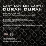 "Duran Duran - Last Day On Earth 7"" (back cover)"