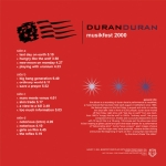 Duran Duran - Musikfest 2000 2LP (back cover)