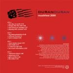 Duran Duran - Musikfest 2000 2LP (back cover)