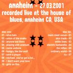 Duran Duran - Anaheim 2001 (back cover)