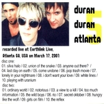 Duran Duran - Atlanta 5 (2001) (back cover)