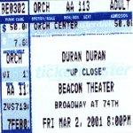 Duran Duran - Beacon NYC#2 2001 (back cover)