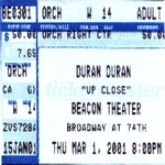Duran Duran - Beacon NYC#1 2001 (back cover)
