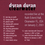 Duran Duran - Clearwater (back cover)