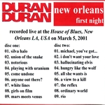 Duran Duran - New Orleans 2001 (1st) (back cover)
