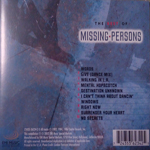 Missing Persons - The Best Of Missing Persons (back cover)