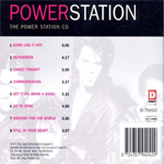 Power Station - Power Station (back cover)
