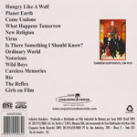 Duran Duran - At Budokan Live Special (back cover)
