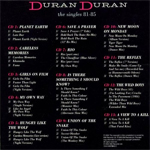 Duran Duran - The Singles 81-85 (back cover)