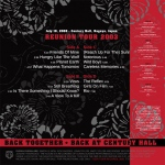 Duran Duran - The Reunion Tour - Nagoya 2003 2LP (back cover)