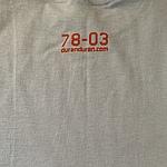 Duran Duran - 78-03 Blue T-shirt (back cover)