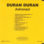 Duran Duran - Astronaut (back cover)