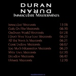 Duran Duran - Immaculate Mastermixes (back cover)