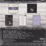 Duran Duran - The Singles 86-95 Vol.2 Sampler (back cover)