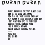 Duran Duran - Wembley Arena (1st) (back cover)