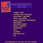 Duran Duran - Hammersmith Palais (NDR2 Broadcast) (back cover)
