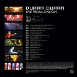 Duran Duran - Live From London 3LP (back cover)