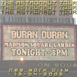 Duran Duran - Astronaut Tour New York (cover)