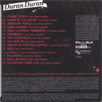 Duran Duran - 10 Track Collectors Edition CD (back cover)