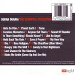 Duran Duran - The Essential Collection (back cover)