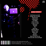 Duran Duran - Entertainment Centre Adelaide (back cover)