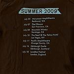 Duran Duran - Summer 2009 T-shirt (back cover)