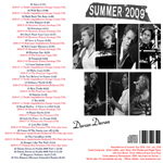 Duran Duran - USA Summer Tour 2009 (back cover)