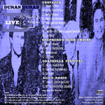 Duran Duran - All You Need Is Now Live (back cover)