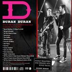Duran Duran - BBC Radio 2 Broadcast Remastered (back cover)