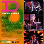 Duran Duran - Royale Theatre Boston (back cover)