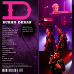 Duran Duran - Ogden Theatre Denver (back cover)