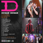 Duran Duran - The Fillmore Theatre (back cover)