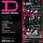Duran Duran - Telmex Auditorium Guadalajara (back cover)