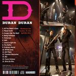 Duran Duran - Warehouse Live Houston (back cover)