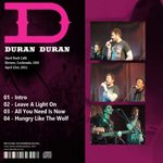 Duran Duran - Mix 100 FM Hard Rock Cafe (back cover)