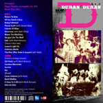 Duran Duran - Unstaged Full Rebroadcast (back cover)