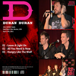 Duran Duran - Hard Rock Cafe (back cover)