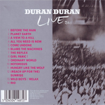 Duran Duran - A Diamond In The Mind (back cover)