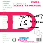 Duran Duran - Piazza Napoleone Lucca (back cover)