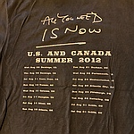 Duran Duran - Bandshot 2012 T-shirt (back cover)