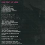 Koishii And Hush - C´est Tout Est Noir (back cover)