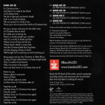 Band Aid - Do They Know It´s Christmas? (back cover)