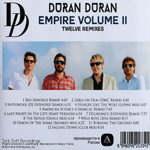 Duran Duran - Empire Volume II (back cover)