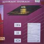 Duran Duran - Rio 2LP (back cover)