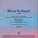 Duran Duran - What Are The Chances? (back cover)