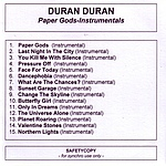 Duran Duran - Paper Gods-Instrumentals (cover)