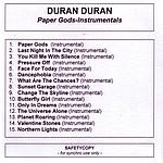 Duran Duran - Paper Gods-Instrumentals
