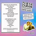 Duran Duran - Paper Gods In Barcelona (back cover)