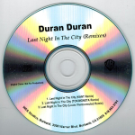 Duran Duran - Last Night In The City (back cover)